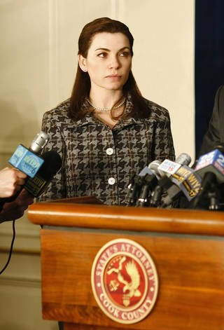"Julianna Margulies stars as Alicia Florrick, in a scene from the CBS drama ""The Good Wife."" AP Photo"