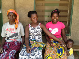 Patients in Doropo, Ivory Coast, Africa wait outside a hospital for medical treatment from doctors and nurses with 1040i, a Norman-based humanitarian group. The team treated broken fingers that didn't heal, repaired bladders, treated cleft lips, removed cysts and benign tumors and treated wounds and infections during a trip the last couple of weeks. PHOTO PROVIDED.