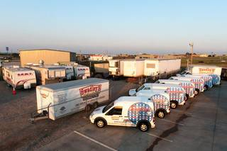 Oklahoma City-based Swadley's Catering uses its nine catering vans to deliver meals to oilfield workers throughout Oklahoma and surrounding states. Photo Provided