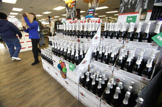 Thousands of bottles of Champagne and sparkling wine will be sold during the next several days at Byron's Liquor Warehouse in Oklahoma City.