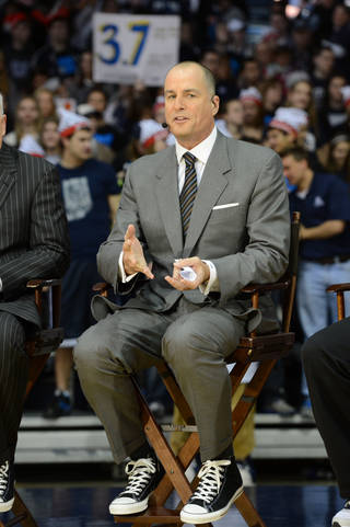 Jay Bilas on the set of ESPN College GameDay. (Photo by Allen Kee / ESPN Images) Allen Kee - Allen Kee