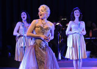 "Jenny Rottmayer, Lindsie VanWinkle and Kassie Carroll star in ""Flipside: The Patti Page Story."" Photo by Wendy Mutz WENDYMUTZ"