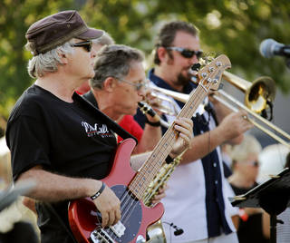 Zoom City performs during a free concert presented by Allied Arts to thank people for supporting the nonprofit's recent fundraising campaign. The concert was at Bicentennial Park. Photo by Doug Hoke, The Oklahoman DOUG HOKE - THE OKLAHOMAN