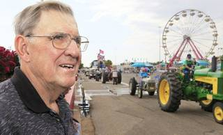 Raymond Pappe, 76, OKC, watches the tractor parade on Senior Citizen's Day to the 2011 Oklahoma State Fair, Wednesday, September 21, 2011. Photo by David McDaniel, The Oklahoman