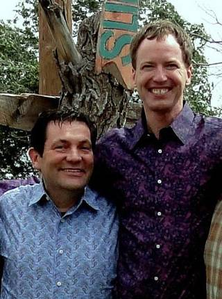 Tom Kovach, left, and his partner Will Weir at their New Mexico ranch. The couple were married there in September. Kovach is believed to be the only gay elected official in Oklahoma who is legally married. - PHOTO PROVIDED