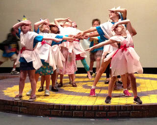 Dance 1 students during a recent summer camp session at Oklahoma Children's Theatre perform their routine at Oklahoma City University' Burg Theater on July 19PHOTO PROVIDED.