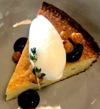 Chef Shelby Sieg's Flay-slaying olive oil cake is now available at The Pritchard.