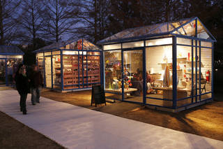 The Winter Shops at Myriad Gardens. Photo by Doug Hoke, The Oklahoman DOUG HOKE - THE OKLAHOMAN