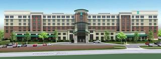 RENDERING / DRAWING: Hotel planned: A $25 million, 194-room Embassy Suites hotel is planned for NE 8 and Phillips Avenue. ORG XMIT: 1303012219331006