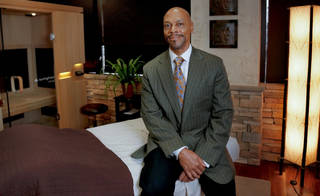 Darryl D. Robinson, poses in Longevity medical spa in southwest Oklahoma City. Photo by Chris Landsberger, The Oklahoman CHRIS LANDSBERGER