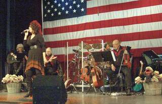 Joanie Brooks (left), of McAlester, performs in Nashville. (Provided)