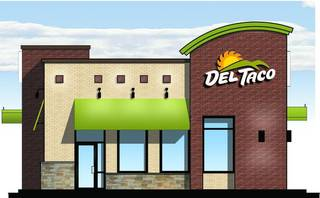 A drawing of the Del Taco restaurant planned for Moore. Drawing provided