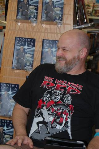 Comic book artist Jerry Bennett. Photo by Annette Price, for The Oklahoman.