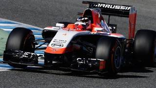 Marussia have unveiled their 2014 Formula 1 car at Jerez, after technical issues delayed the MR03's launch to day three of pre-season testing.