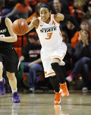 Oklahoma State's Tiffany Bias ranks fifth in Big 12 history with 757 career assists. Photo by KT King, The Oklahoman