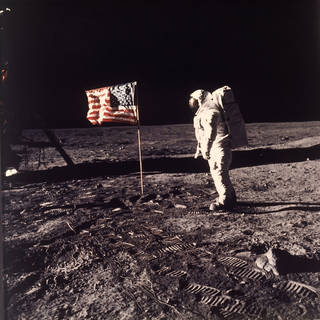 Despite evidence to the contrary, seven percent of people believe the moon landing was faked, according to a recent poll. Wayne Wyrick-Harris, director of the planetarium at Science Museum Oklahoma, says there's overwhelming evidence that the moon landing happened, including still-used devices called retroreflectors on the moon. (AP Photo/NASA/Neil A. Armstrong, file) NEIL A. ARMSTRONG