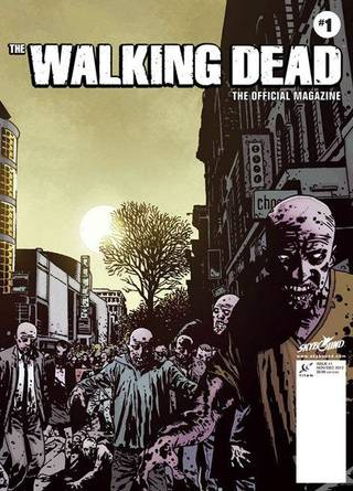 "An alternate cover to ""The Walking Dead Magazine"" No. 1. Titan."
