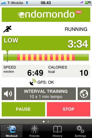 This promotional image from Endomondo shows the fitness training mobile application in use. PHOTO PROVIDED.