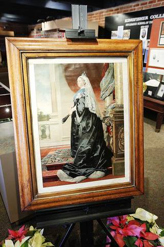 A print from the 1800s of Queen Victoria is on display at the Chisholm Trail Museum in Kingfisher. Photos by Paul B. Southerland, The Oklahoman