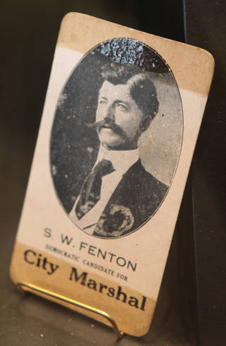 A photo of lawman Stringer Fenton is in the new Elmer McCurdy exhibit. Photo by David McDaniel, The Oklahoman David McDaniel - The Oklahoman