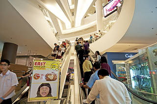 The Siam Paragon Mall in Bangkok, Thailand, is a haven for visitors in search of retail therapy. Photo courtesy of Ellen Clark.
