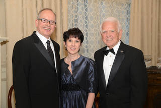 Stan Clark, Mary Pointer, George Nigh. Photo by David Faytinger, for The Oklahoman