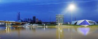 The Oklahoma River and downtown are casting a new image for Oklahoma City, but the revival isn't without critics. PHOTO BY NATE BILLINGS, THE OKLAHOMAN NATE BILLINGS