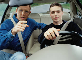 Dave Ramsey recommends that for parents of new drivers, the parents leave the car in a parent's name and pay the extra insurance cost for a little while. Ryan McVay
