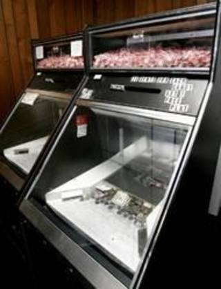 These gambling machines were seized during a 2007 raid in Hennessey by the Kingfisher County sheriff's department. Photo By Bryan Terry, The Oklahoman Archives