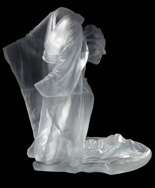 """""""Chado,"""" a 2011 cast glass work by Karen LaMonte on display at the Oklahoma City Museum of Art as part of """"Fusion (A New Century of Glass)."""" Photo courtesy of the artist and Imago Galleries; Photo by Martin Polak"""