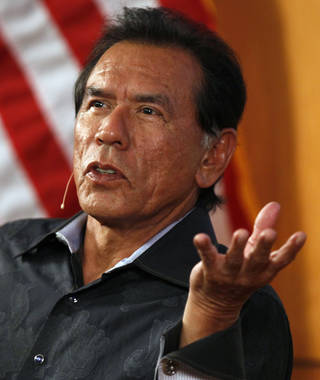Actor Wes Studi spoke at the Oklahoma History Center in June. PHOTO BY NATE BILLINGS, THE OKLAHOMAN. NATE BILLINGS