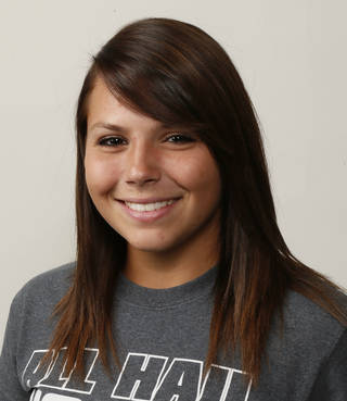 Jordan Dixon, Edmond North softball player, poses for a mug shot during The Oklahoman's Fall High School Sports Photo Day in Oklahoma City, Wednesday, Aug. 15, 2012. Photo by Nate Billings, The Oklahoman