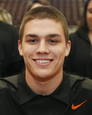 Jenks Dylan Harding at the college signing at Jenks, OK, Feb. 5, 2014. STEPHEN PINGRY/Tulsa World