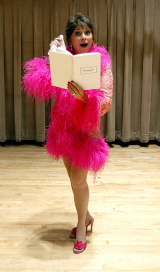 2011 Senior Follies cast member Kerry Robertson rehearses for the Follies at Wanda L. Bass Music Center on the campus of Oklahoma City University in Oklahoma City. File photo by Sarah Phipps, The Oklahoman. SARAH PHIPPS - SARAH PHIPPS