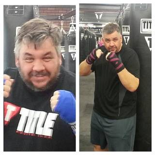 """Mike Harvey before and after pictures provided by the Homeland """"Get Healthy Challenge."""""""