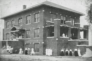 The north building of the Holmes Home of Redeeming Love is shown.