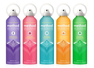 Method's non-aerosol air freshener is seen. AP Photo -