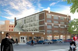 Renovation is set to begin in June on the Mideke Building, 100 E Main, which will house the headquarters of Tapstone Energy. Drawing provided by Rogers Partners Rogers Partners