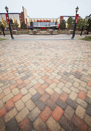Pavestone Co. pavers are used extensively in Bricktown near the Harkins Theater. Photo by David McDaniel, The Oklahoman