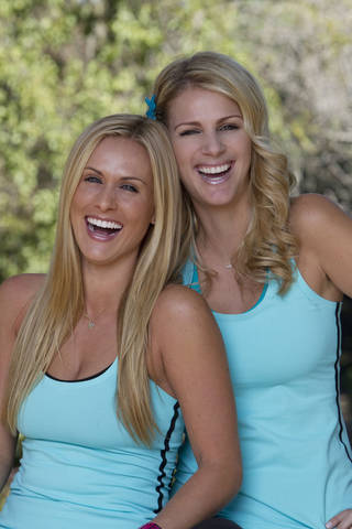 "Caroline Cutbirth, left, and Jennifer Kuhle of the country band Stealing Angels are competing in ""The Amazing Race,"" which debuts at 7 p.m. Sunday. CBS photo"