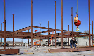 Work continues at Soldier Creek Elementary, one of four elementary schools in the Midwest City-Del City Public Schools system undergoing major expansion or renovation. Photo by Jim Beckel, The Oklahoman Jim Beckel - THE OKLAHOMAN