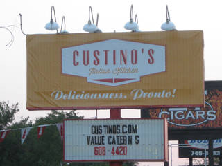 The sign in front of Custino's Italian Restaurant is shown. Photo by Steve Lackmeyer, The Oklahoman