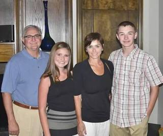Mark, Kyndal, Mimi and Weston Bilyeu, from left. Mimi Bilyeu died Monday in a mountain climbing accident. PHOTO PROVIDED -