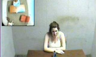 Amber Hilberling is seen in this image from the video.