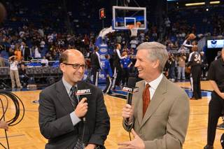Jeff Van Gundy, left, and Mike Breen will broadcast the NBA Finals for ABC. ESPN photo