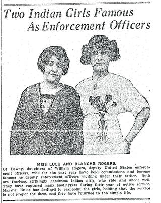 On Sept. 7, 1913, The Oklahoman published an article that showcased two Dewey, OK, sisters, Lula and Blanche Rogers.