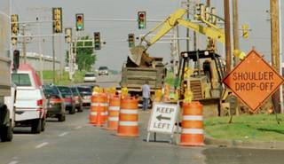Road work at Broadway and 33rd Street in Edmond just east of the intersection. A $4.5 million road project is proposed adjacent to Edmond 66 Park, and transportation officials are asking for comments from the public through June 13.The Oklahoman Archives