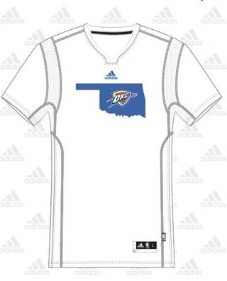 The Thunder's summer league jersey. PROVIDED BY THE THUNDER