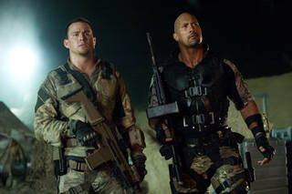 "Channing Tatum, left, and Dwayne Johnson in a scene from ""G.I. Joe: Retaliation."" PARAMOUNT PICTURES PHOTO Jaimie Trueblood"