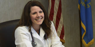 This Feb. 17, 2014 photo shows Sioux Falls physician Annette Bosworth talking about her candidacy for the U.S. Senate seat being vacated by Sen. Tim Johnson in Sioux Falls, S.D. Bosworth will face four opponents in the Republican primary on June 3. (AP Photo/Dirk Lammers)